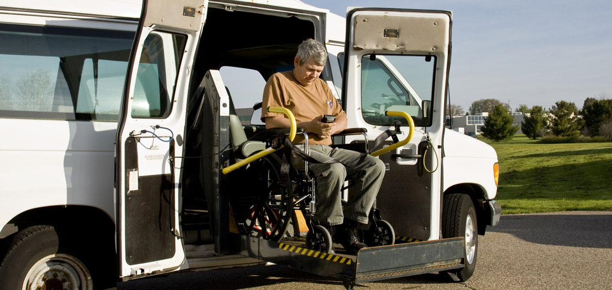 Disabled wheelchair lift